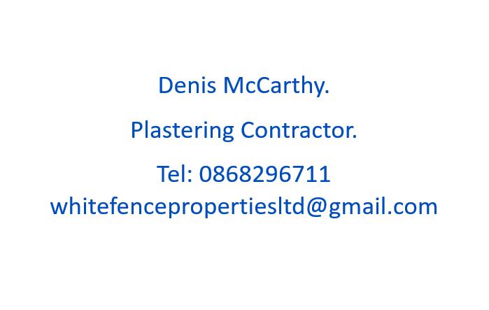 Denis McCarthy Plastering Contractor