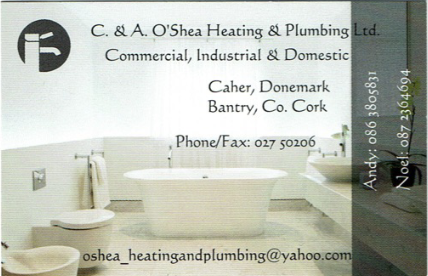 C&A O'Shea Heating and Plumbing